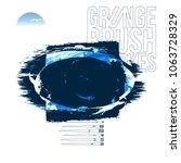 blue brush stroke and texture....   Shutterstock .eps vector #1063728329