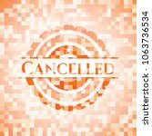 cancelled abstract emblem ... | Shutterstock .eps vector #1063736534