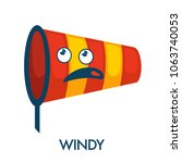 windy day symbol in shape of... | Shutterstock .eps vector #1063740053