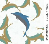 seamless texture with a flock... | Shutterstock . vector #1063747538