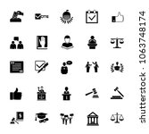 icon set of jurisprudence signs.... | Shutterstock .eps vector #1063748174