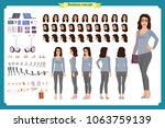 young woman  casual clothes.... | Shutterstock .eps vector #1063759139