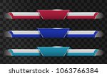 set of video headline title or... | Shutterstock .eps vector #1063766384
