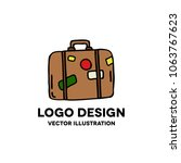 travel suitcase doodle icon | Shutterstock .eps vector #1063767623