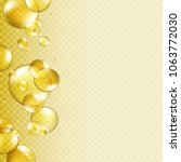 oil gold bubbles isolated on... | Shutterstock .eps vector #1063772030