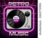 abstract 80s retro background... | Shutterstock .eps vector #1063774904