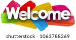 welcome poster with colorful... | Shutterstock .eps vector #1063788269