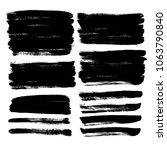 grunge hand drawn paint brush....   Shutterstock .eps vector #1063790840