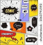 comic speech bubbles and comic... | Shutterstock .eps vector #1063791593