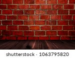 old brown wooden floor and wall ... | Shutterstock . vector #1063795820