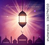 ramadan kareem background with... | Shutterstock .eps vector #1063796510