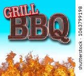 stock illustration   bbq grill  ... | Shutterstock . vector #1063799198