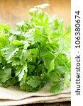 Green  Organic Parsley  On...
