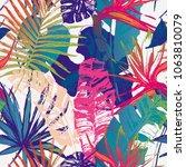 nature seamless pattern. hand... | Shutterstock .eps vector #1063810079