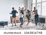 going crazy. full length of... | Shutterstock . vector #1063816748
