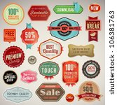 set of vector labels and... | Shutterstock .eps vector #106381763