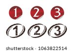 modern number template set | Shutterstock .eps vector #1063822514