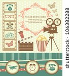 vintage objects scrapbook... | Shutterstock .eps vector #106382288
