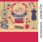 vintage objects scrapbook... | Shutterstock .eps vector #106382756