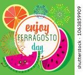 happy ferragosto day | Shutterstock .eps vector #1063859909