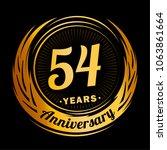 54 years anniversary.... | Shutterstock .eps vector #1063861664