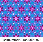 beautiful geometric ornament.... | Shutterstock .eps vector #1063864289