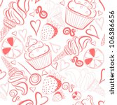 seamless vector pattern with... | Shutterstock .eps vector #106386656