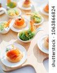 food eating dinner | Shutterstock . vector #1063866824
