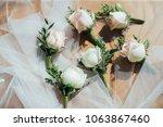wedding flower ceremony | Shutterstock . vector #1063867460