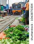 samut songkhram  thailand  ...   Shutterstock . vector #1063870304