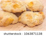 pile of oatmeal cookies on... | Shutterstock . vector #1063871138