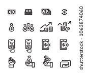 money line icon set | Shutterstock .eps vector #1063874060