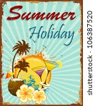 illustration of summer holiday... | Shutterstock .eps vector #106387520