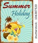 Illustration Of Summer Holiday...