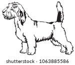 decorative portrait of standing ... | Shutterstock .eps vector #1063885586