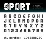 vector of athletic alphabet... | Shutterstock .eps vector #1063888280