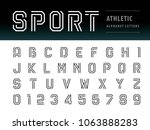 vector of athletic alphabet... | Shutterstock .eps vector #1063888283