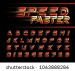 vector of futuristic alphabet... | Shutterstock .eps vector #1063888286
