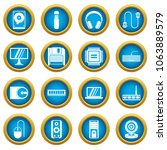 computer icons blue circle set... | Shutterstock . vector #1063889579