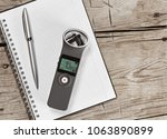 audio recorder with external... | Shutterstock . vector #1063890899