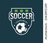 football  soccer logo. sport... | Shutterstock .eps vector #1063892189