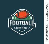 american football logo. sport... | Shutterstock .eps vector #1063892903
