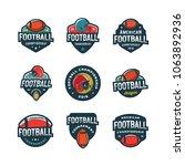 set of american football logos. ... | Shutterstock .eps vector #1063892936