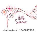 red black grey vector dandelion ... | Shutterstock .eps vector #1063897133