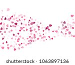pink valentine's day scatter of ...   Shutterstock .eps vector #1063897136