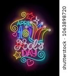 greeting card template for... | Shutterstock . vector #1063898720