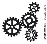 growing gears  | Shutterstock .eps vector #106389878