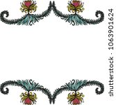 beautiful floral card. vector... | Shutterstock .eps vector #1063901624