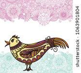 beautiful bird. vector... | Shutterstock .eps vector #1063901804