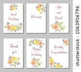 set of flower wedding ornament... | Shutterstock .eps vector #1063906796